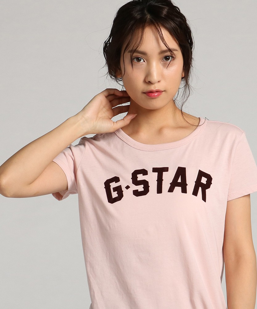 G-Star RAW 15RT Straight Tシャツ レディース ピンク
