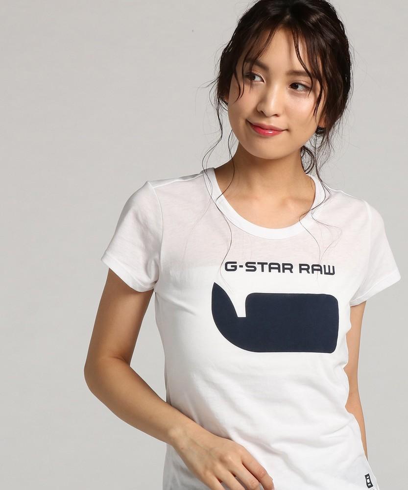 G-Star RAW 18RT Slim Tシャツ レディース ホワイト