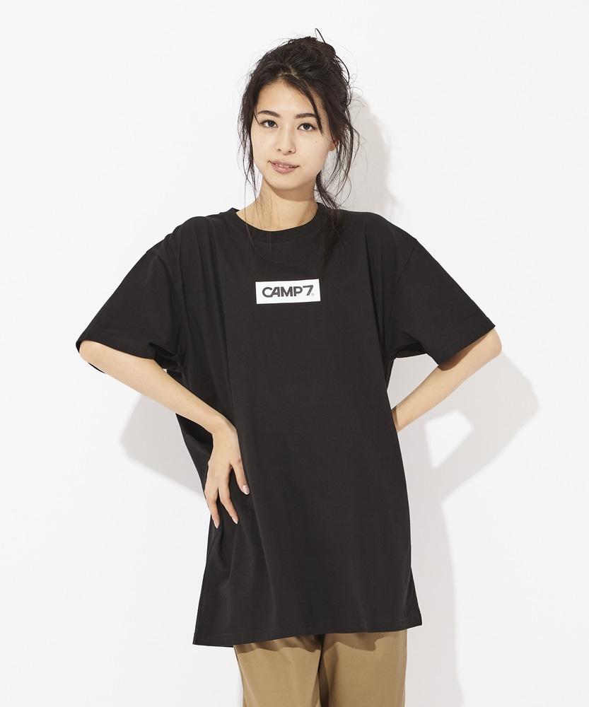 CAMP7 ボックスロゴプリントTシャツ レディース ブラック