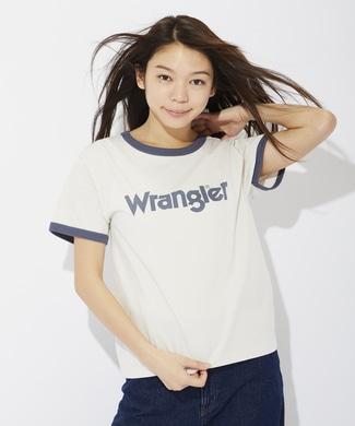 Wrangler リンガーTシャツ レディース オフホワイト*ネイビー
