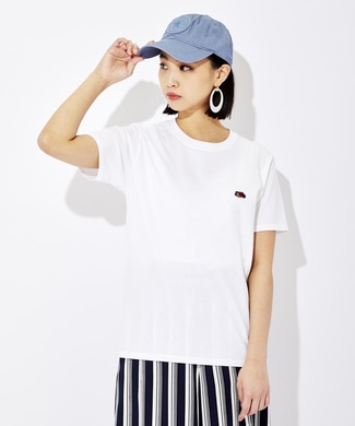 FRUIT OF THE LOOM ワッペンTシャツ レディース ホワイト