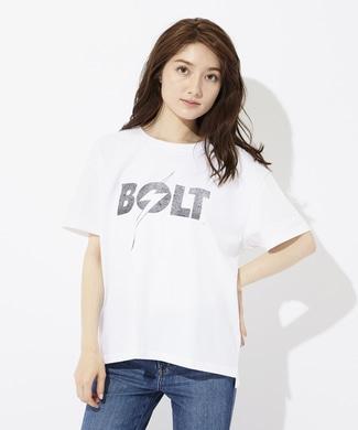 Lightning Bolt ロゴプリントTシャツ レディース *ホワイト
