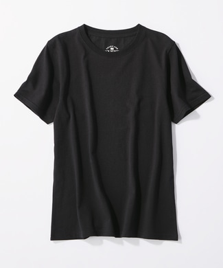 BACK NUMBER 「TOUGH AGE」無地クルーネック半袖Tシャツ レディース ブラック
