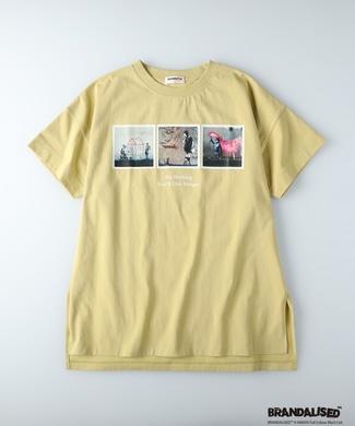 BRANDALISED エンボスプリントTシャツ バンクシー イエロー