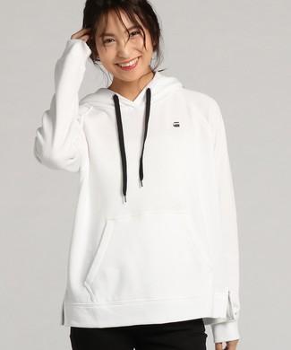 G-Star RAW Loose Hooded Sweater レディース ホワイト