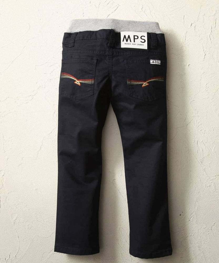 MPS 【WEB限定価格】 レインボー5ポケットパンツ キッズ ブラック