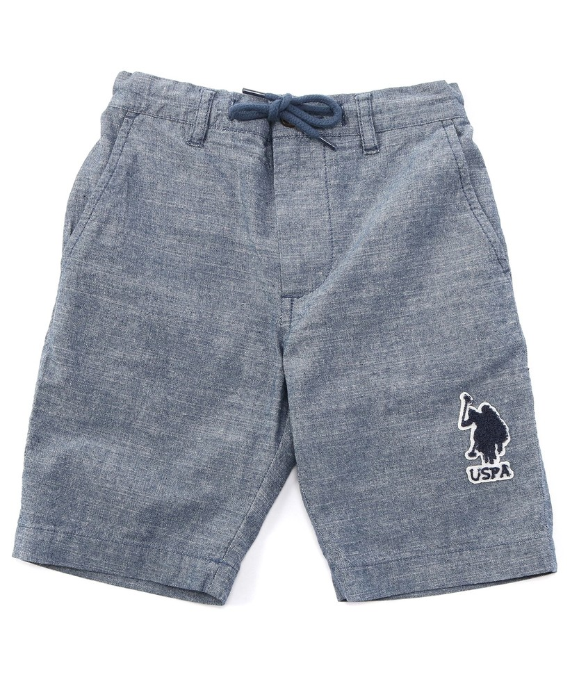 U.S.POLO ASSN ダンガリーショートパンツ キッズ 中濃色