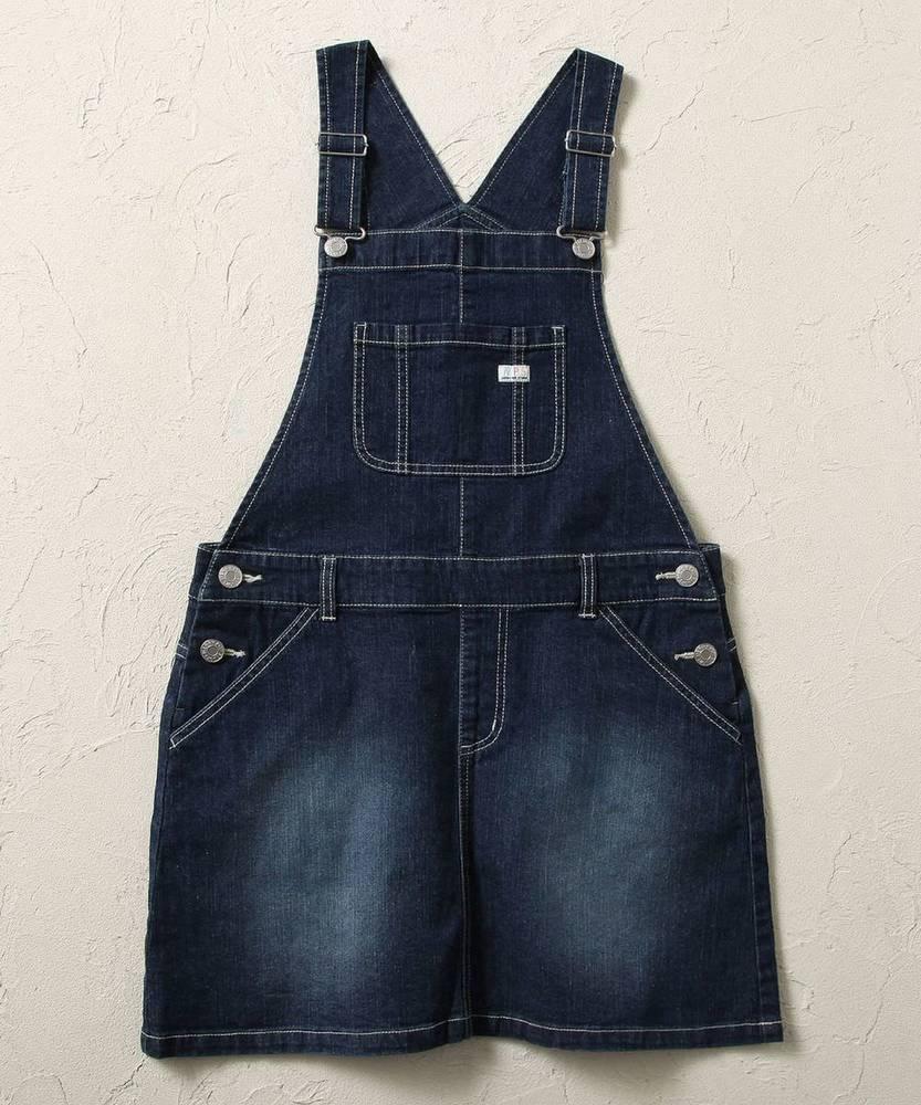 MPS(160) 【WEB限定価格】 デニムレインボージャンパースカート(ジュニアサイズ160cm) キッズ 濃加工色