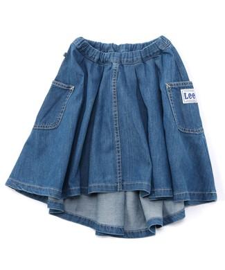 Lee 【WEB限定】アシンメトリースカート キッズ 淡加工色