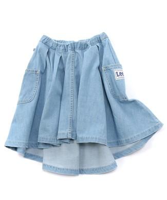 Lee アシンメトリースカート キッズ 淡加工色