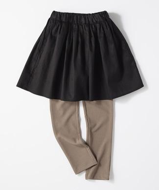MPS 【MPSボトムス2本目半額】スパッツ付きスカート(ジュニアサイズ155cm) キッズ ブラック