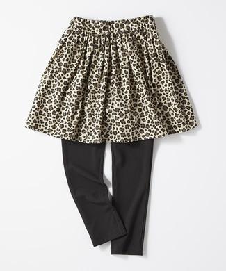 MPS 【MPSボトムス2本目半額】スパッツ付きスカート(ジュニアサイズ155cm) キッズ ベージュ*ブラック