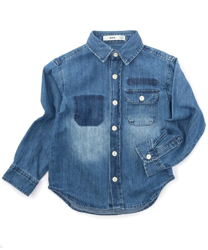 MPS(160) 【WEB限定価格】デニムシャツ(ジュニアサイズ160cm) キッズ 中濃加工色