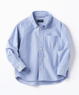 BACK NUMBER オックスボタンダウンシャツ キッズ ブルー