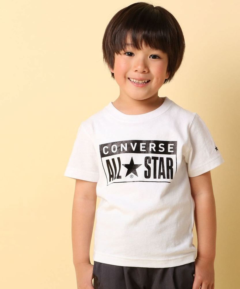 CONVERSE 【WEB限定価格】ボックスプリントTシャツ キッズ オフシロ