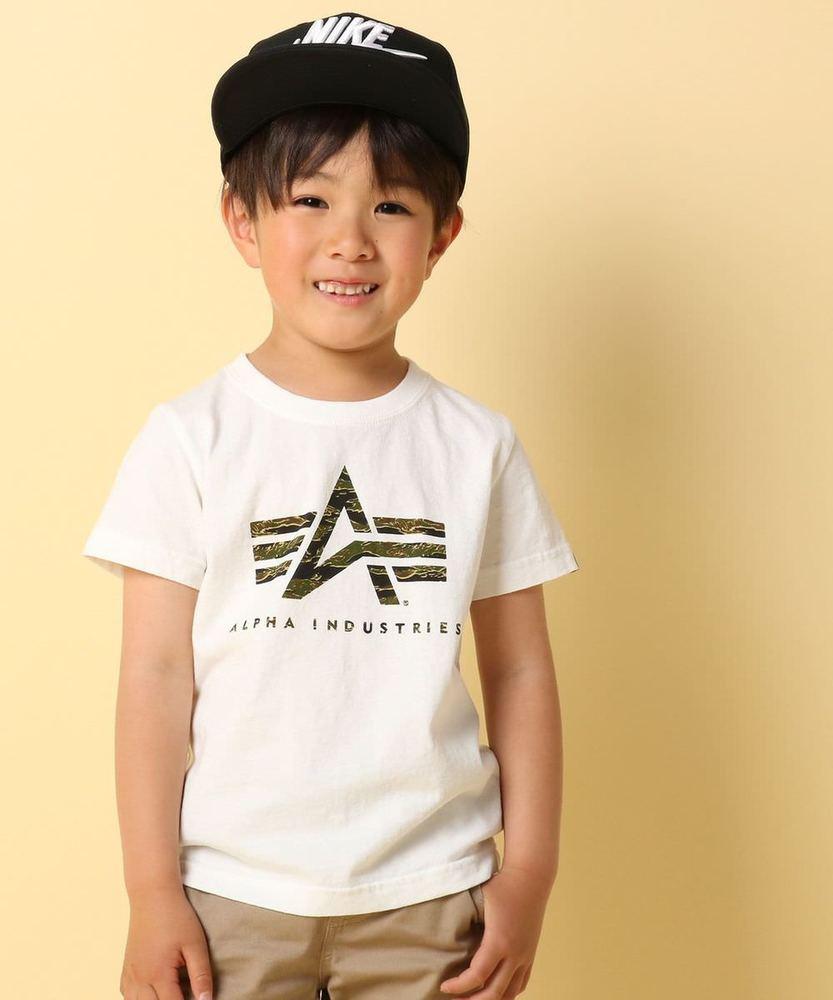 ALPHA 【WEB限定価格】ロゴ半袖Tシャツ キッズ オフシロ
