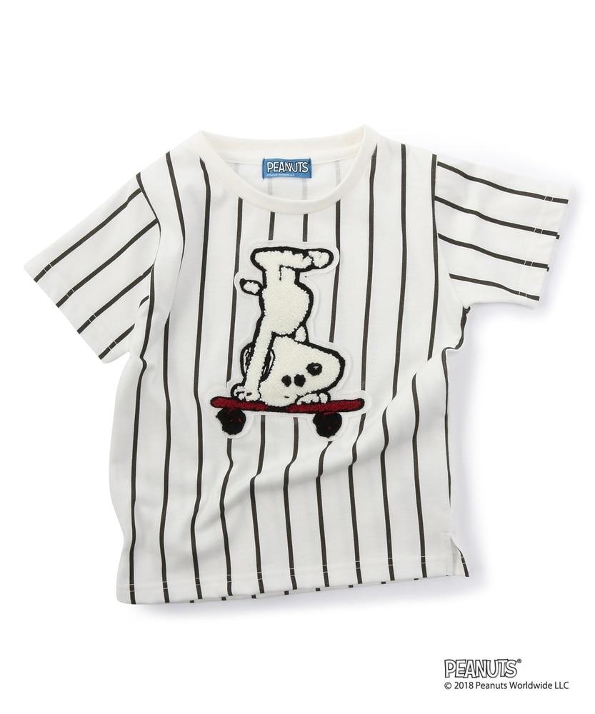 PEANUTS ストライプTシャツ (ジュニアサイズ150・160cm) キッズ オフシロ