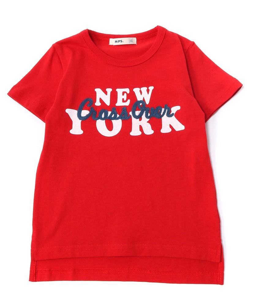 MPS(160) ニューヨーク刺繍Tシャツ(ジュニアサイズ160cm) キッズ レッド