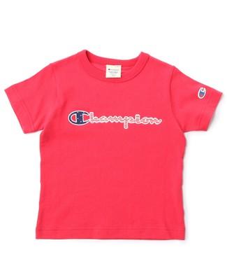 Champion (B.S)ロゴアップリケTシャツ(ジュニアサイズ150・160cm) キッズ レッド
