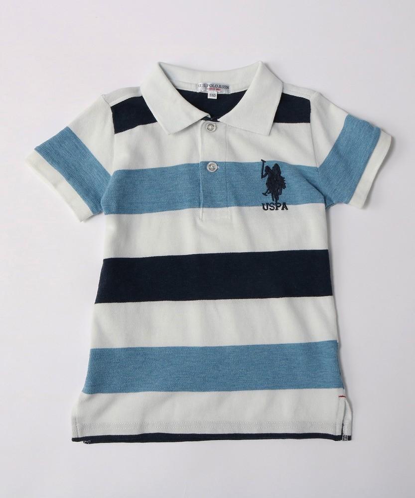 U.S.POLO ASSN ポロシャツ(150・160cm) キッズ ブルー