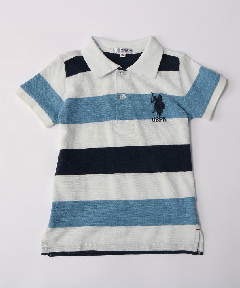 U.S.POLO ASSN ポロシャツ キッズ ブルー