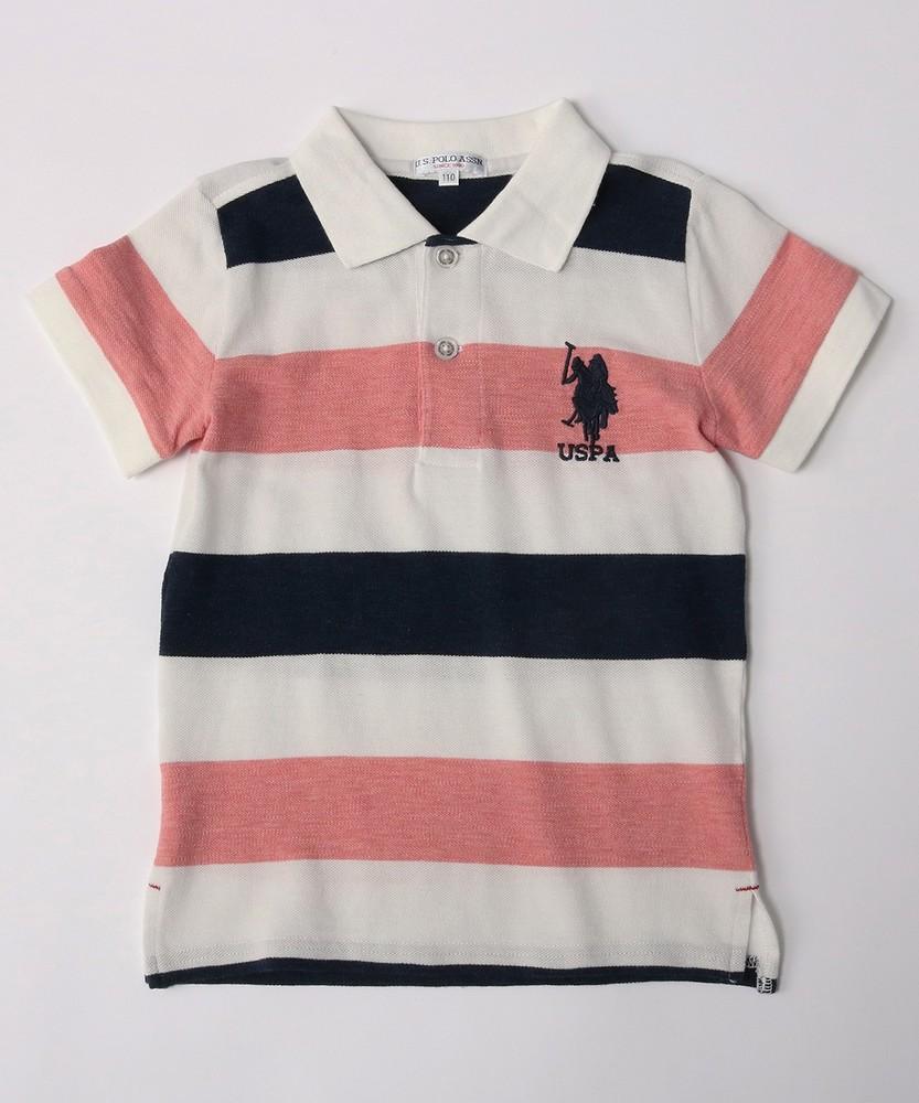 U.S.POLO ASSN ポロシャツ キッズ ピンク