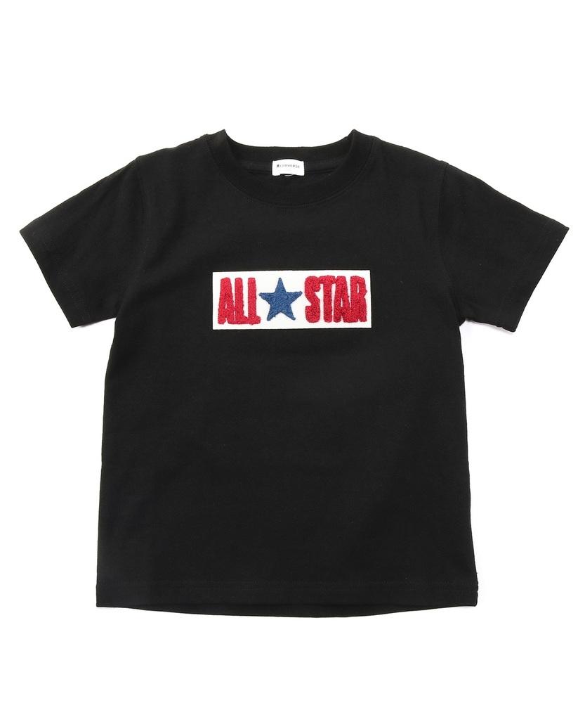 CONVERSE サガラ刺繍Tシャツ(ジュニアサイズ150・160cm) キッズ ブラック
