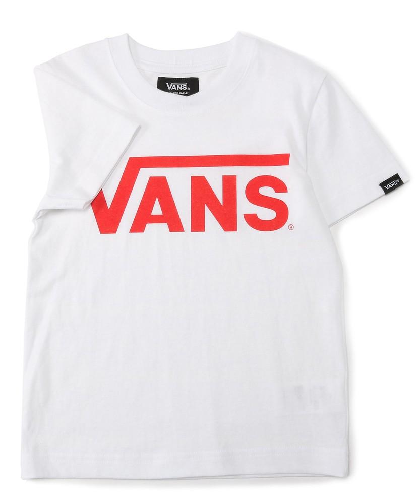 VANS 【WEB限定】クラシックロゴショートスリーブTシャツ キッズ レッド*ホワイト