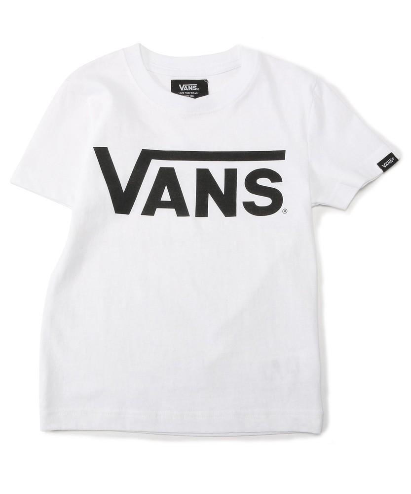 VANS 【WEB限定】クラシックロゴショートスリーブTシャツ キッズ ブラック*ホワイト