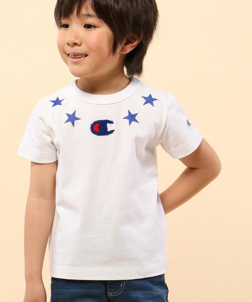 Champion 【WEB限定】星モチーフサガラTシャツ キッズ ホワイト