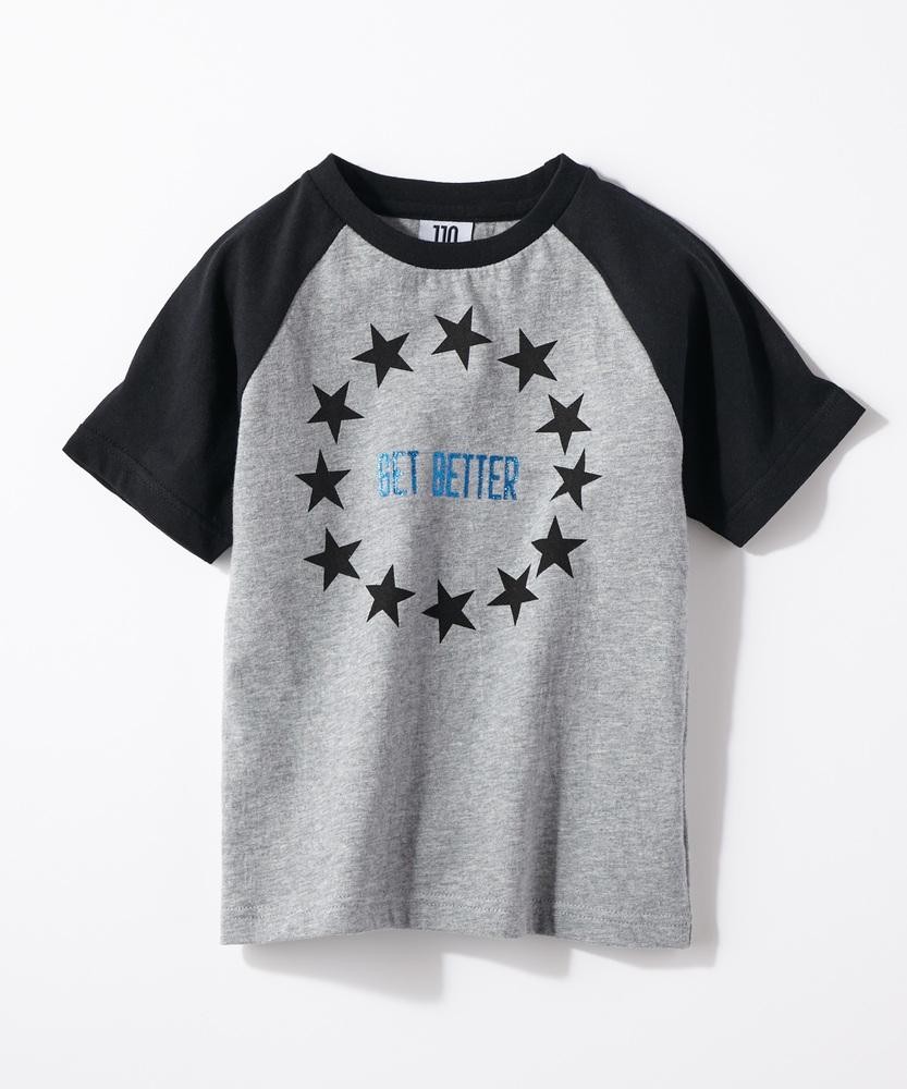 LAB スターロゴTシャツ キッズ ブラック*グレー