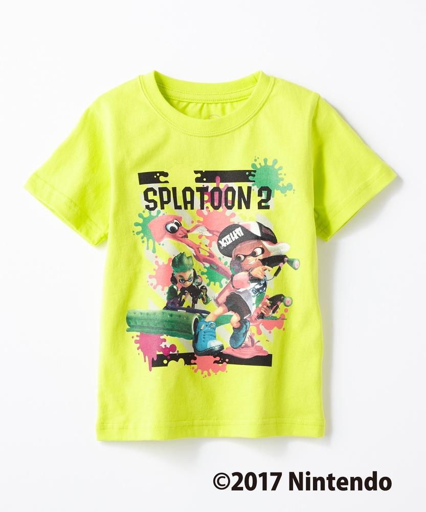 SPLATOON インクリングプリントTシャツ キッズ ライトイエロー