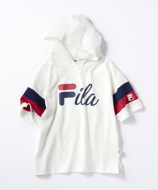 FILA 【WEB限定価格】袖配色パーカー キッズ ホワイト