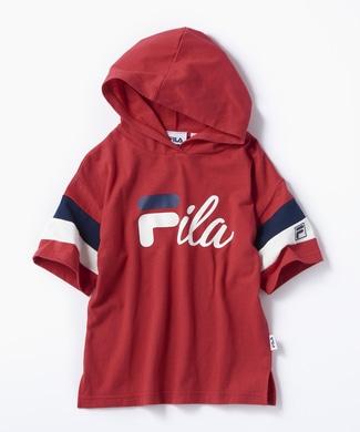 FILA 【WEB限定価格】袖配色パーカー(ジュニアサイズ150cm) キッズ レッド