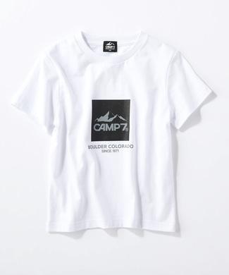 CAMP7 ボックスロゴTシャツ キッズ ホワイト