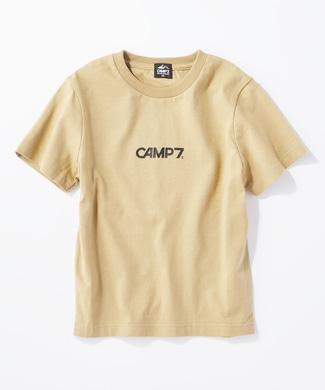 CAMP7 バックプリントTシャツ キッズ ベージュ