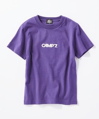 CAMP7 バックプリントTシャツ キッズ パープル