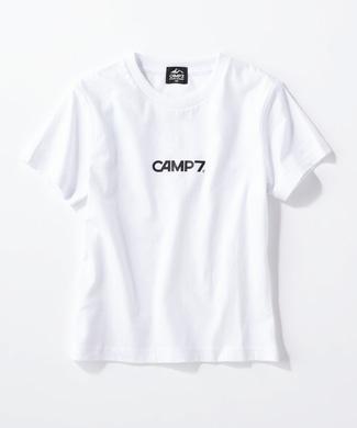 CAMP7 バックプリントTシャツ キッズ ホワイト