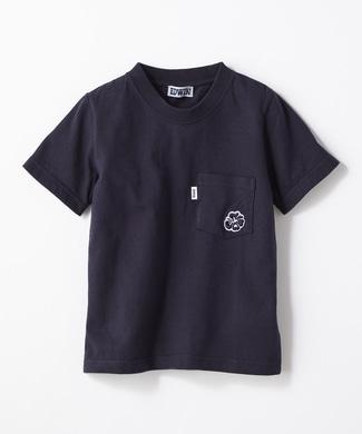 EDWIN 【予約】ワンポイントTシャツ キッズ ネイビー