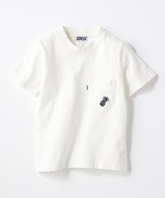 EDWIN 【予約】ワンポイントTシャツ キッズ ホワイト
