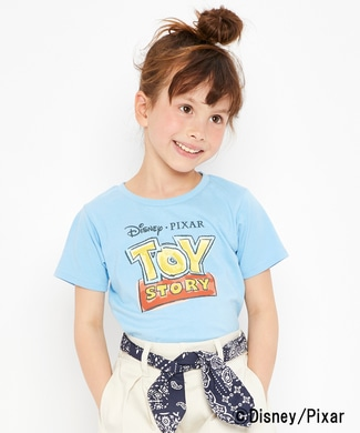 DISNEY プリントTシャツ(トイ・ストーリー) キッズ ブルー