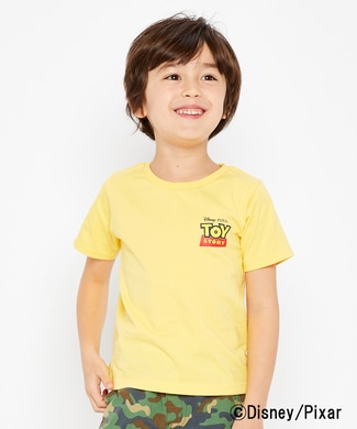 DISNEY プリントTシャツ(トイ・ストーリー) キッズ イエロー