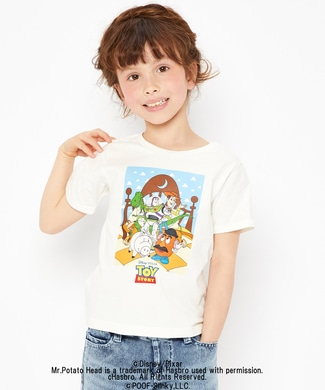 DISNEY プリントTシャツ(トイ・ストーリー) キッズ オフシロ