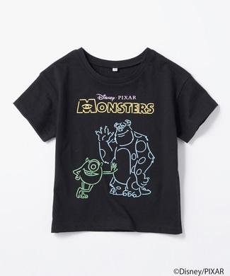 DISNEY ネオンプリントTシャツ(モンスターズ・インク) キッズ ブラック