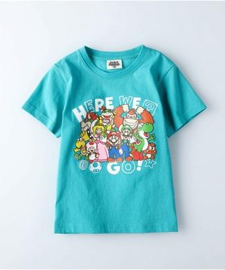 Other プリントTシャツ(マリオ) キッズ ターコイズ