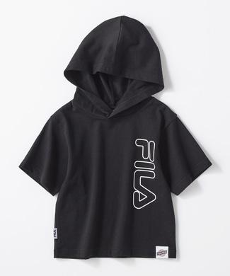FILA 【FILA×TEGTEG cheered by Girls2】 フード付きTシャツ ブラック