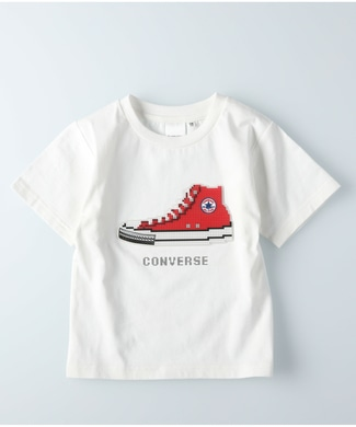 CONVERSE オールスター ロゴTシャツ キッズ ホワイト