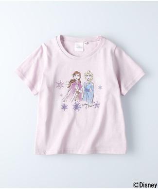 ライトオンオンラインショップノンブランド 半袖プリントTシャツ(アナと雪の女王) キッズ ライラック