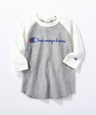 Champion 【WEB限定】ラグラン7分袖Tシャツ キッズ グレー