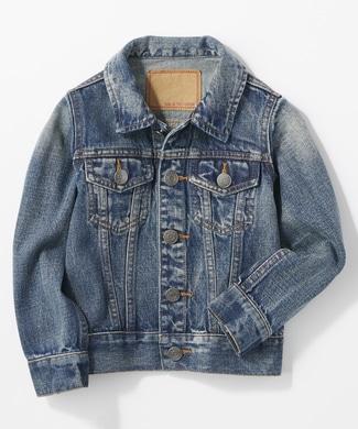 BACK NUMBER デニムトラッカージャケット(ジュニアサイズ150-160cm) キッズ 中濃色